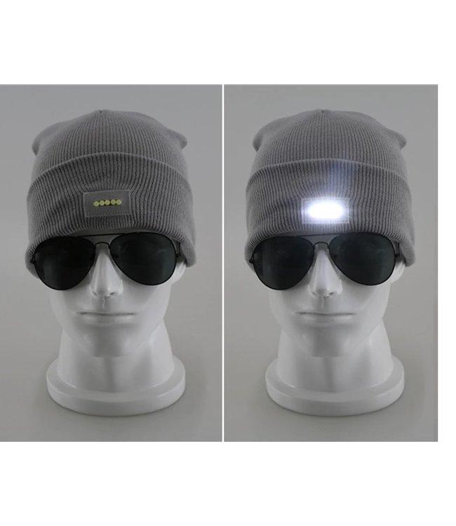 Lichtgevende Muts - LED - Grijs