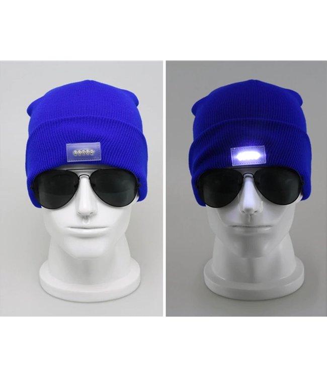Lichtgevende Muts - LED - Blauw