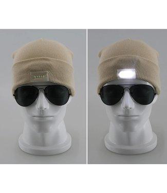 Lichtgevende Muts - LED - Beige