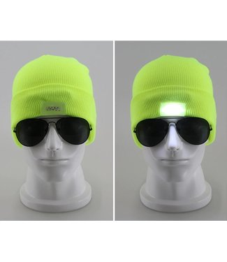 Lichtgevende Muts - LED - Groen