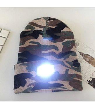 Lichtgevende Muts - LED - Camouflage