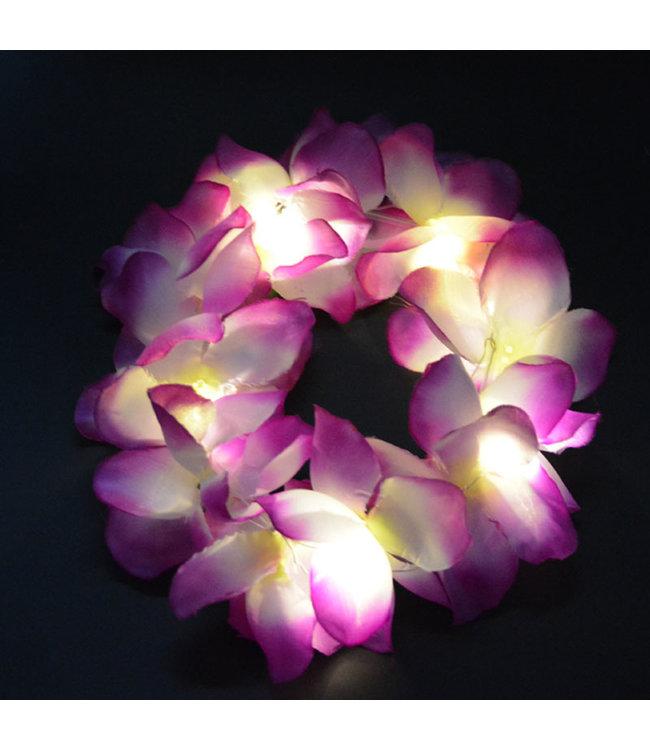 Lichtgevend Haar Frutsel - LED - Paars