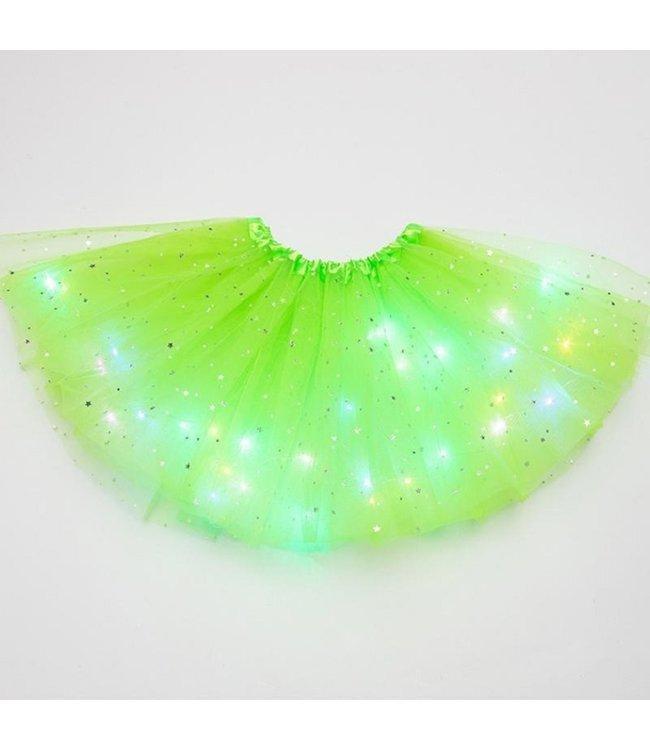 LED Rokje / Tutu - Groot - Licht Groen - Met Gekleurde RGB Verlichting