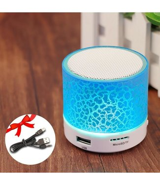 Bluetooth Speaker Mini - LED - Blauw