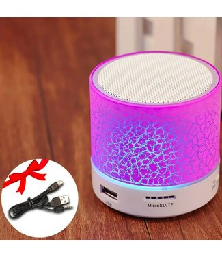 Bluetooth Speaker Mini - LED - Roze