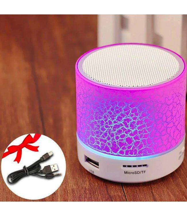 Bluetooth Speaker Mini - LED - Roze