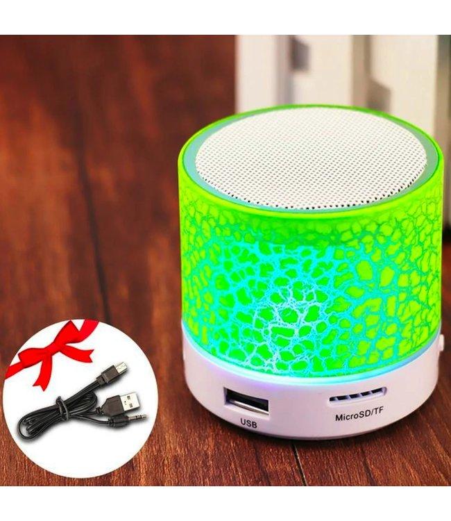 Bluetooth Speaker Mini - LED - Groen