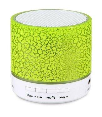 Bluetooth Speaker Mini - LED - Geel