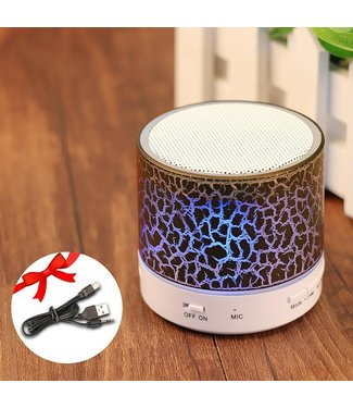 Bluetooth Speaker Mini - LED - Zwart