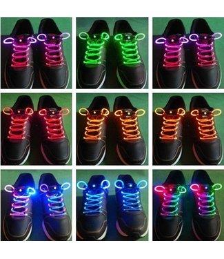 Lichtgevende  Veters - LED Blauw / Roze
