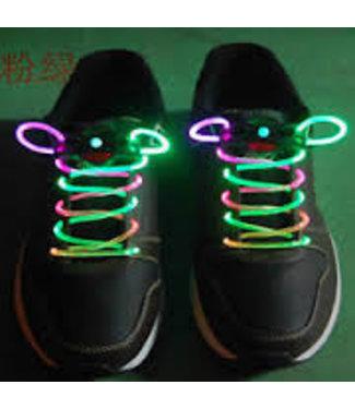Lichtgevende  Veters - LED Groen / Roze