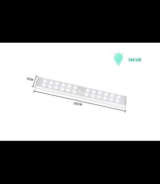 LED Kastverlichting Met Sensor - 20 cm - USB - Warm Wit