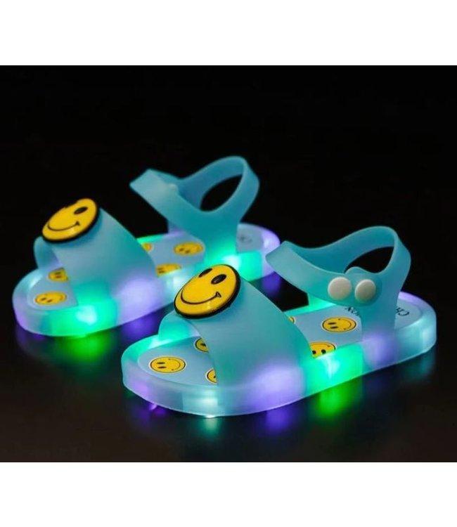 LED Sandalen Smiley - Blauw