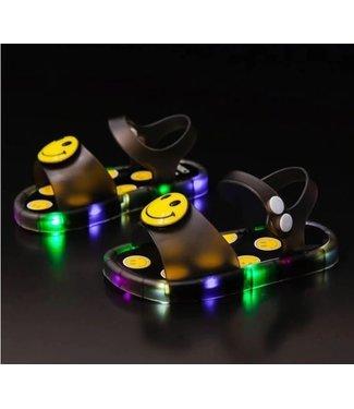 LED Sandalen Smiley - Zwart