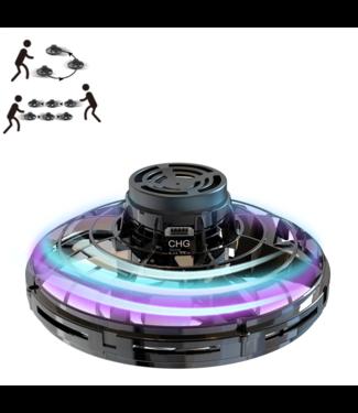 FlyNova Vliegende Spinner  -  LED - Zwart
