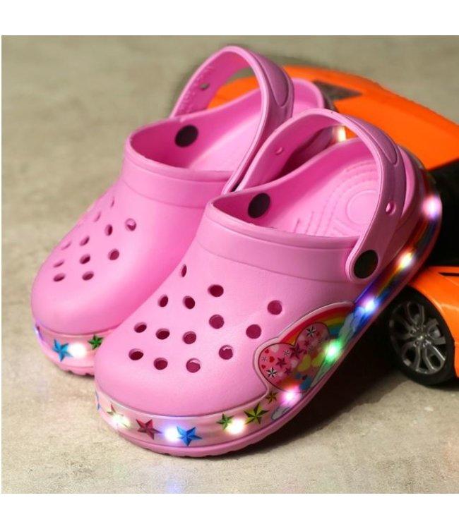 Lichtgevende Kinder Crocs - LED - Roze