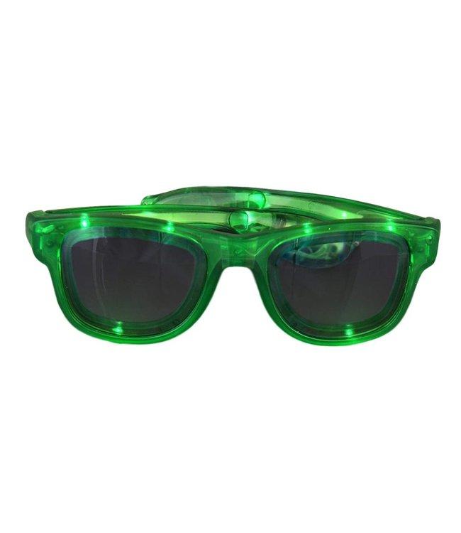 Lichtgevende Bril - Groen - LED