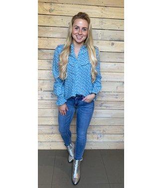 Veronica Blue Wave Blouse