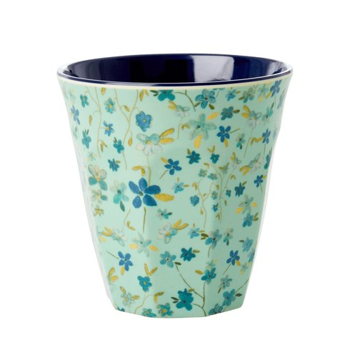 Rice Becher Melamin Blumen blau