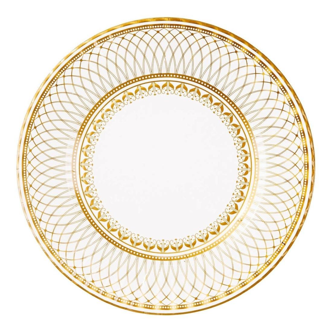 Talking Tables Papierteller Gold «Party Porzellan»