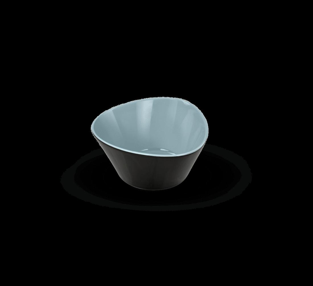 Rössler Porzellan Schale Revival 60s blau