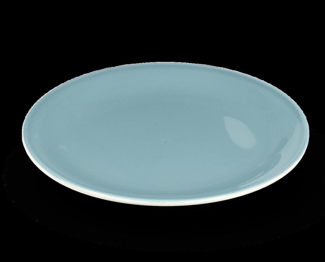 Rössler Porzellan Dessertteller 60s Revival blau