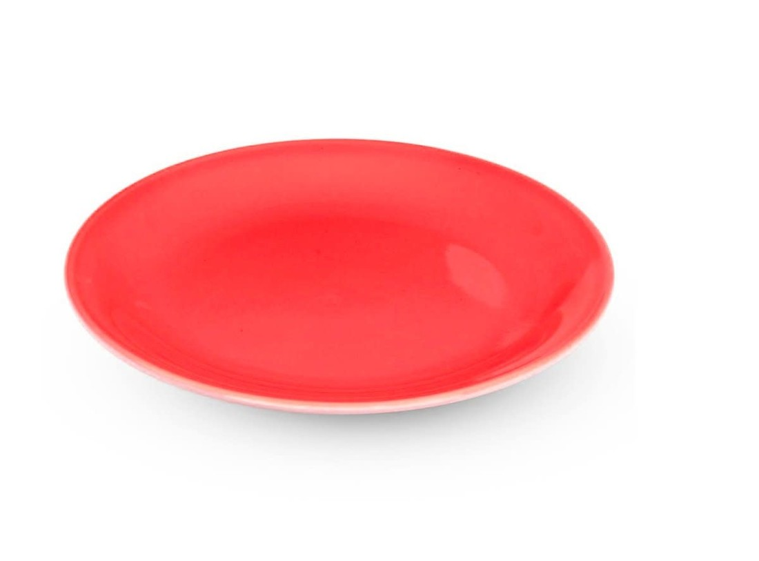 Rössler Porzellan Dessertteller 60s Revival rot