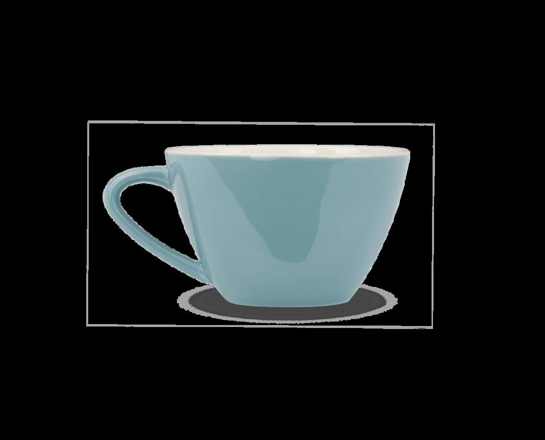 Rössler Porzellan Kaffeetasse 60s Revival blau