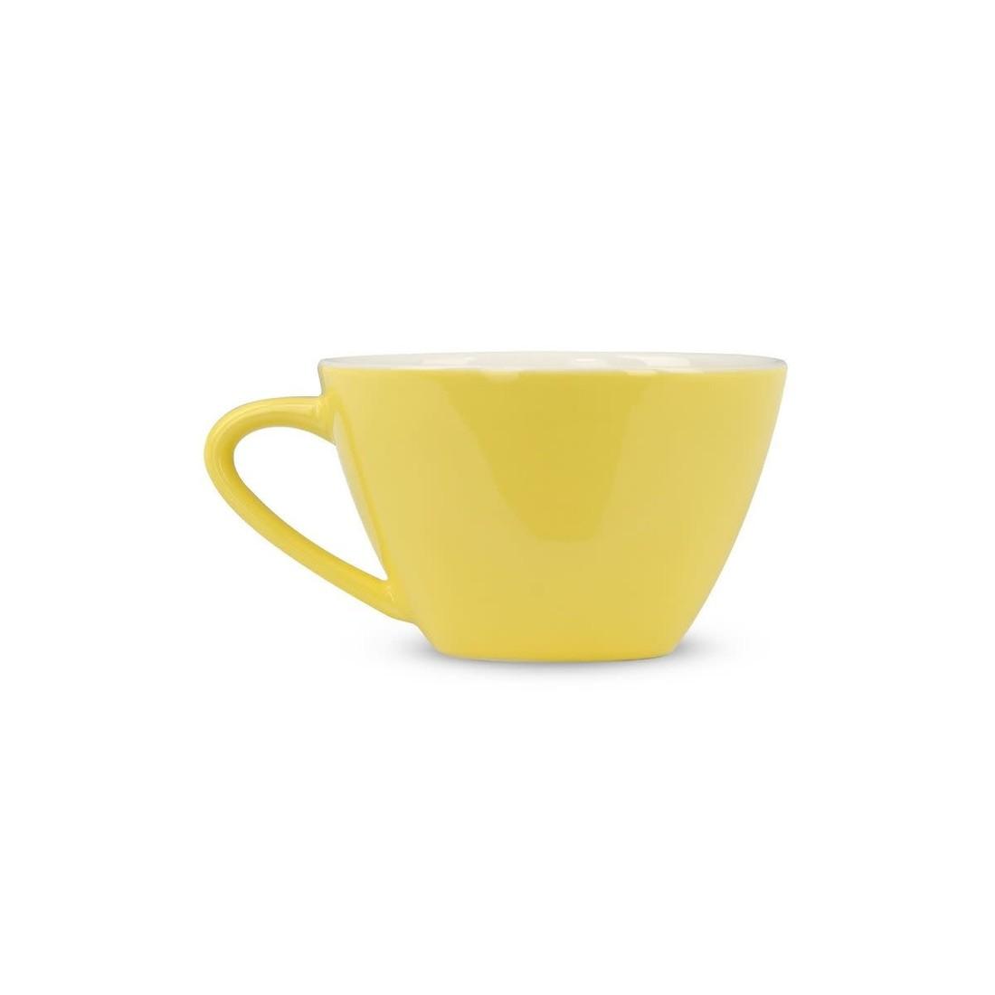 Rössler Porzellan Kaffeetasse 60s Revival gelb