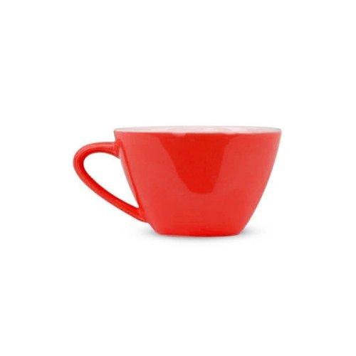 Rössler Porzellan Kaffeetasse 60s Revival rot