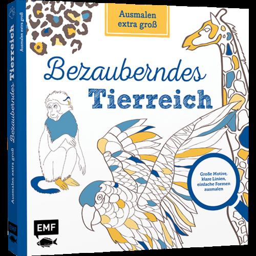 EMF Ausmalen Extra Groß - Bezauberndes Tierreich