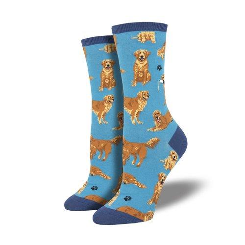 Socksmith Damensocken «Golden Retrievers Blue»