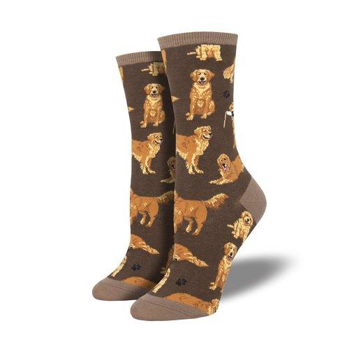 Socksmith Damensocken «Golden Retrievers Brown»