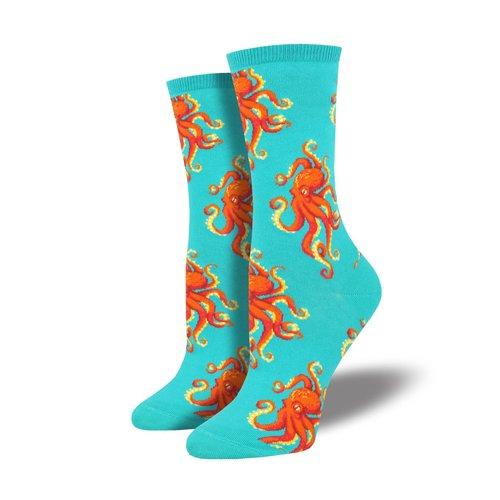 Socksmith Damensocken «Socktopus Teal»
