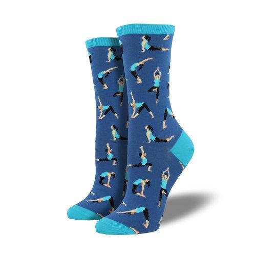 Socksmith Damensocken «Yoga People Blueberry»