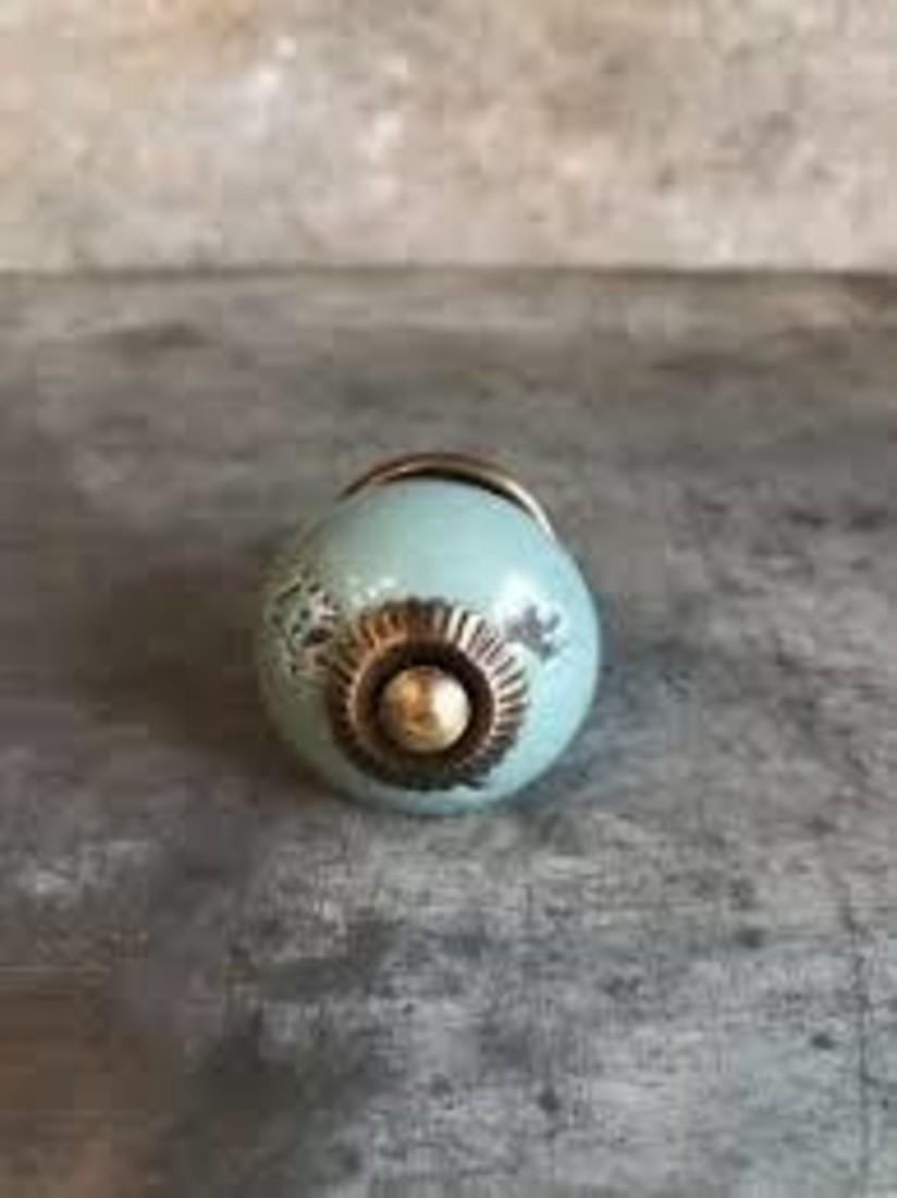 Knauf blau-grün-bronze
