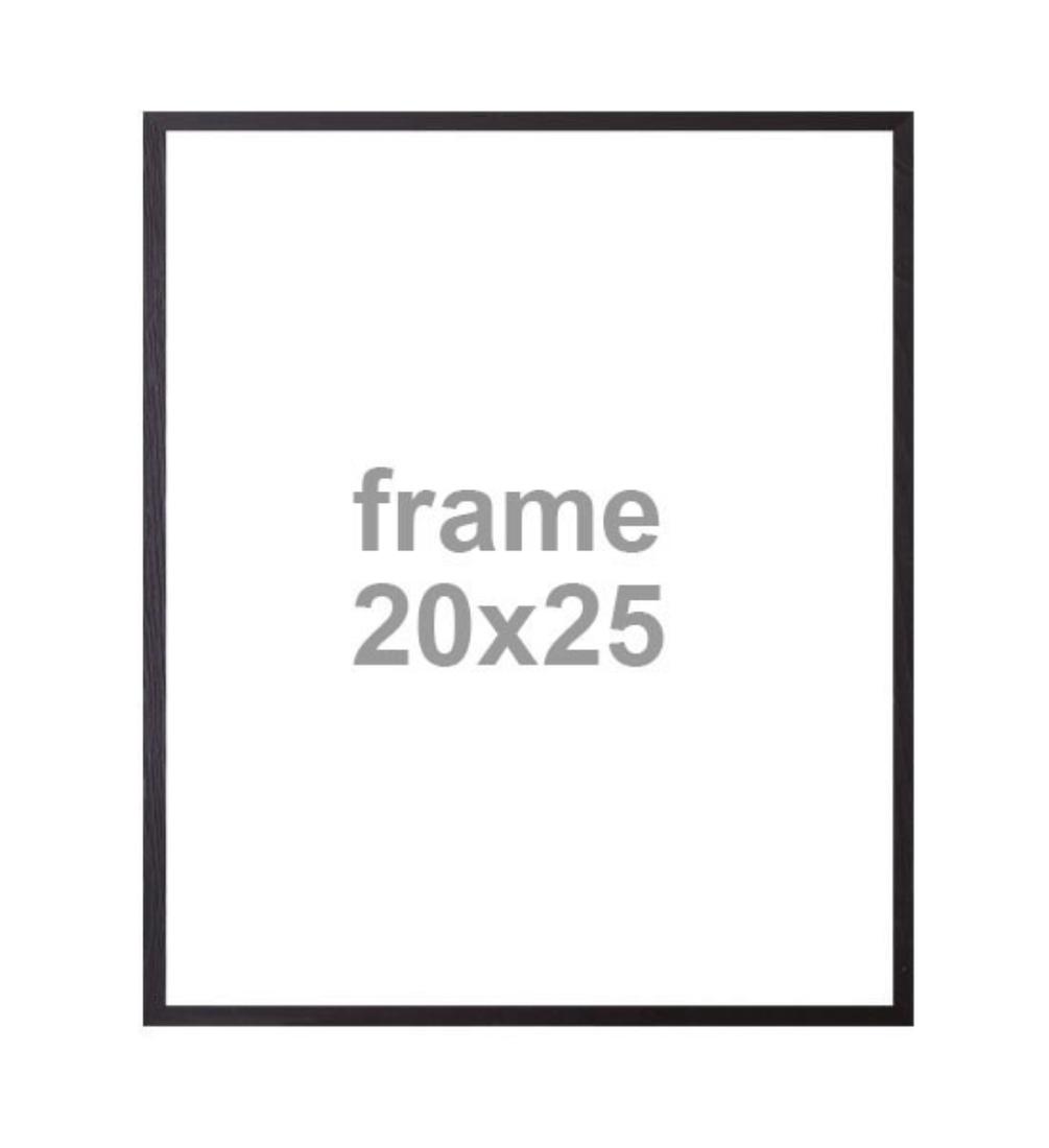 Bilderrahmen schwarz 20X25