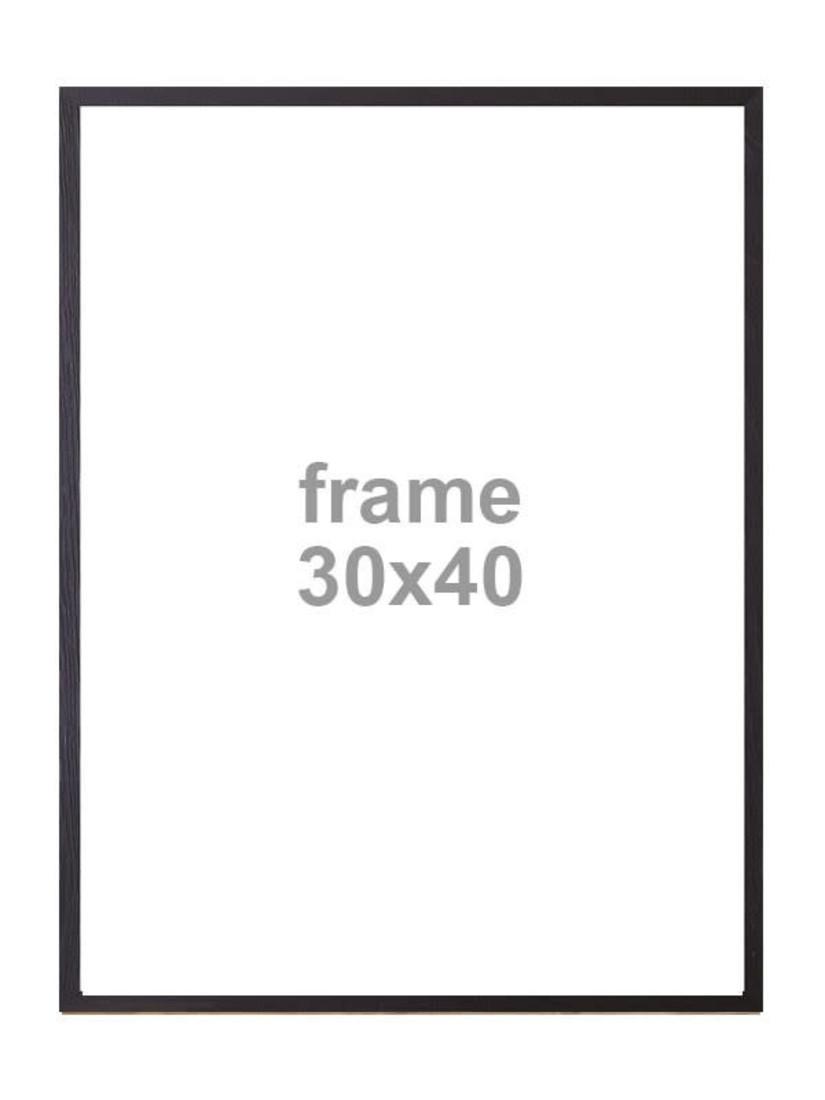 Bilderrahmen schwarz 30X40
