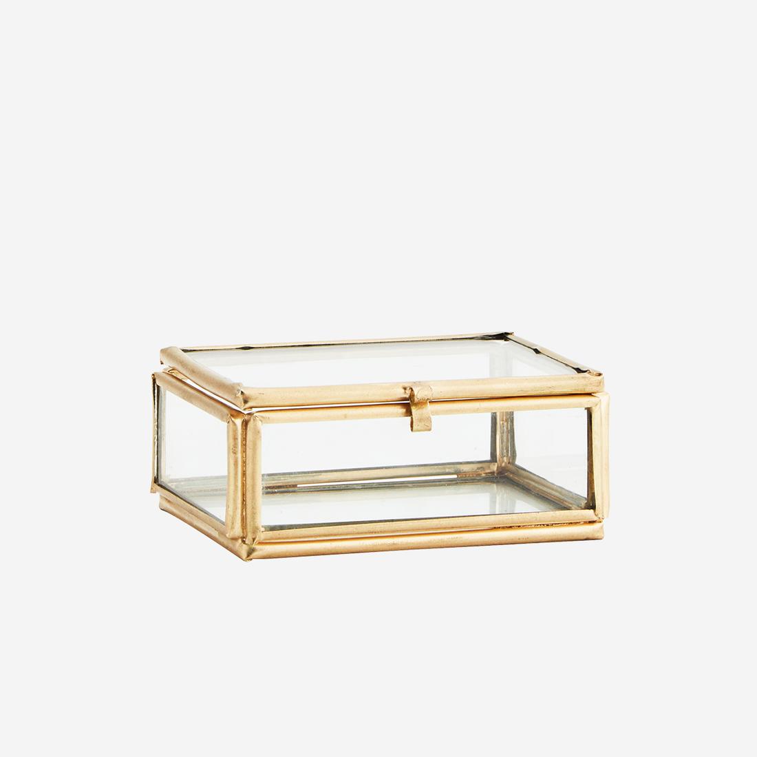 Glasbox Rechteckig Gold