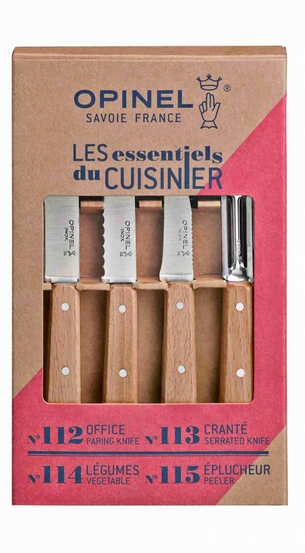 Küchenmesserset «Les Essentiels Nature Opinel»