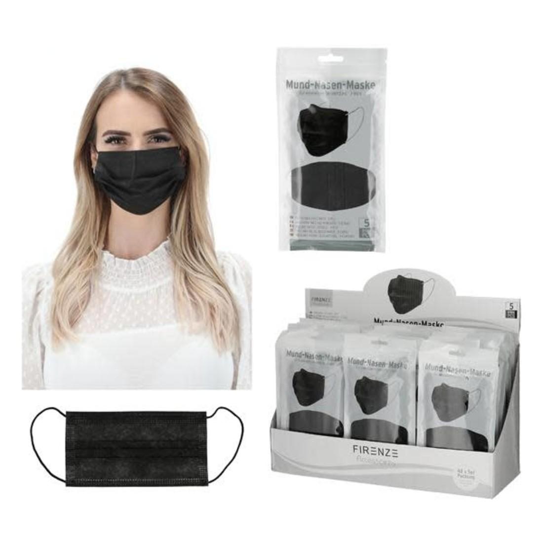 Mund - Nase - Maske Schwarz