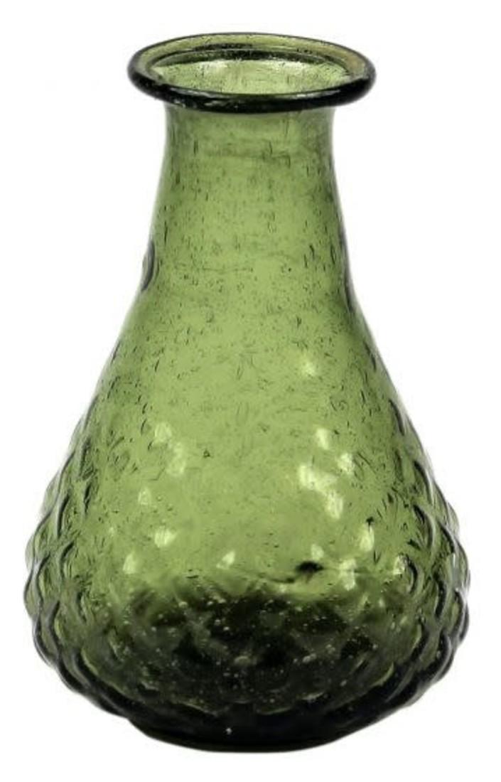Glas Vase grün