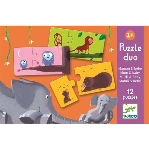 Djeco Puzzle Duo Mama Und Kind