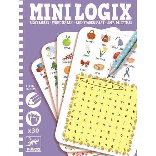 Djeco Mini Logix Englischer Buchstabensalat