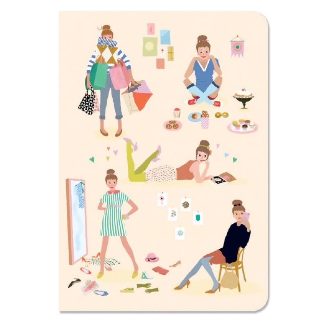 Djeco Notizbuch mit Stickers «Tinou»