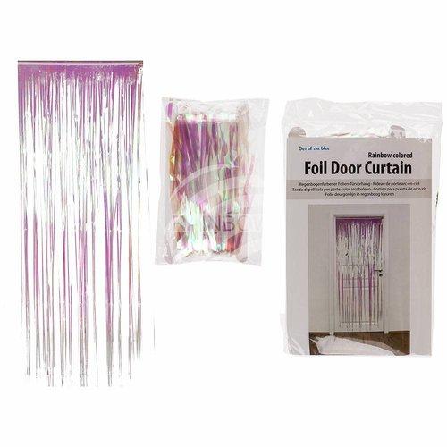 Folien-Türvorhang «Regenbogenfarbig»
