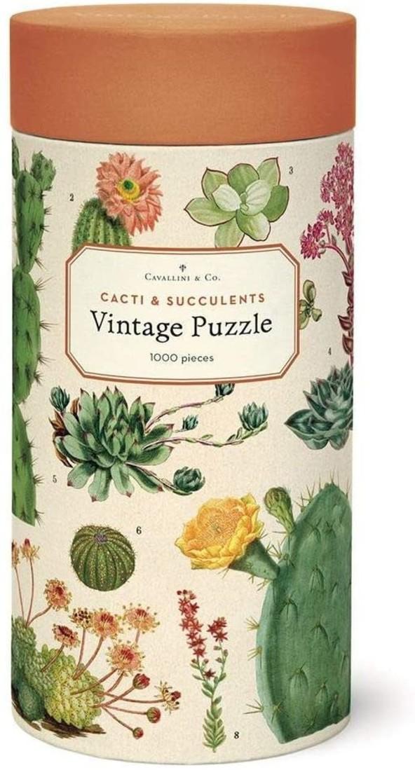 Cavallini Puzzle «Cacti & Succulents»