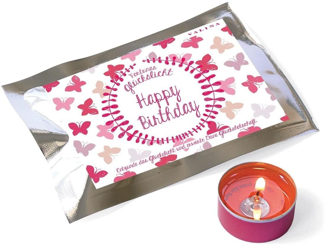 Glückslicht «Happy Birthday» Schmetterling
