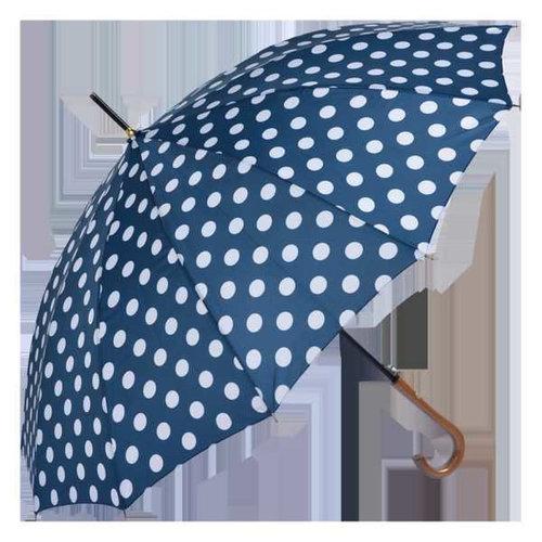 Regenschirm blau mit weissen Punkten