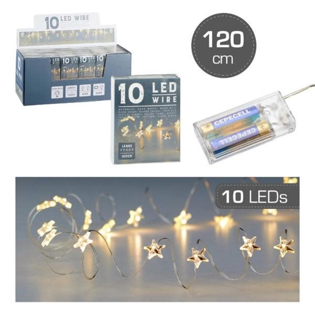 Lichterkette Micro LED Silberdraht Sterne